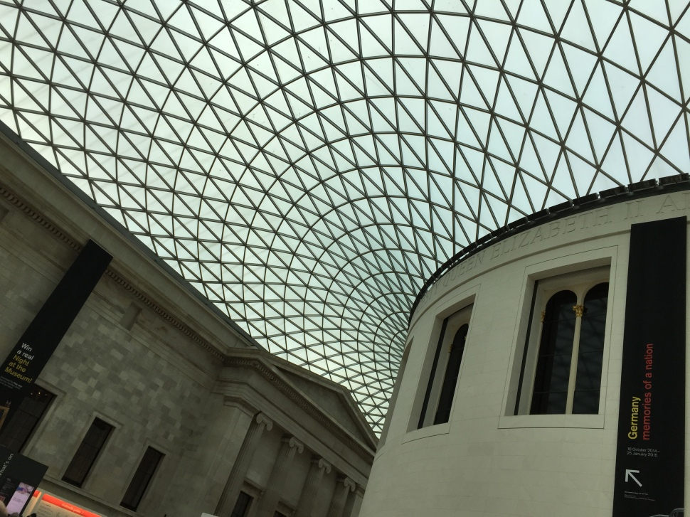 The dramatic laticed-ceiling of the British Museum's entrance. © David-Kevin Bryant
