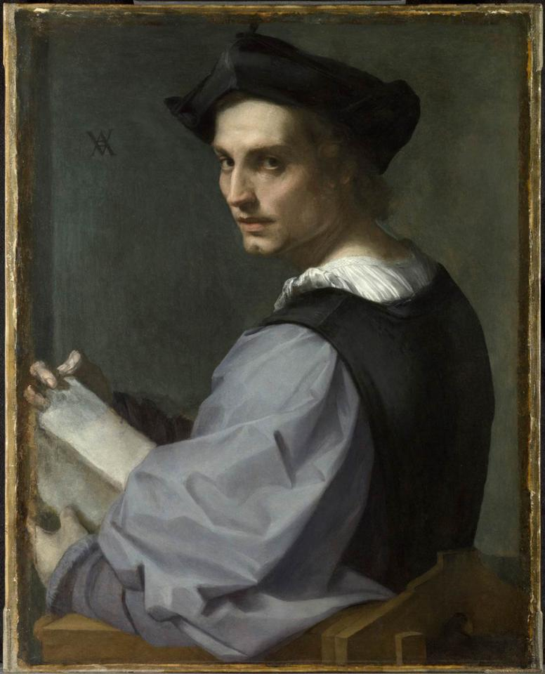 Andrea del Sarto, Portrait of a Young Man, ca. 1517-18. © The National Gallery, London