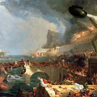 """The Course of Empire. Destruction."" 1836. Thomas Cole © NY Historical Society"