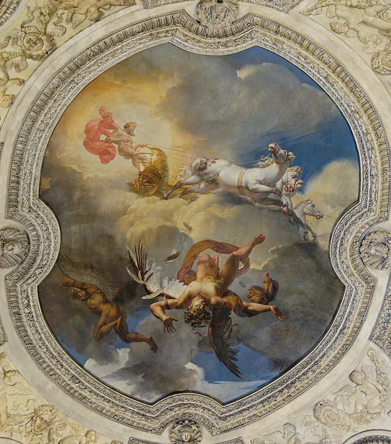 The Sun, or the Fall of Icarus (1819) by Merry-Joseph Blondel, in the Rotunda of Apollo at the Louvre