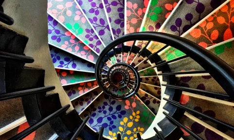 The hotel's spiral staircase. © David-Kevin Bryant