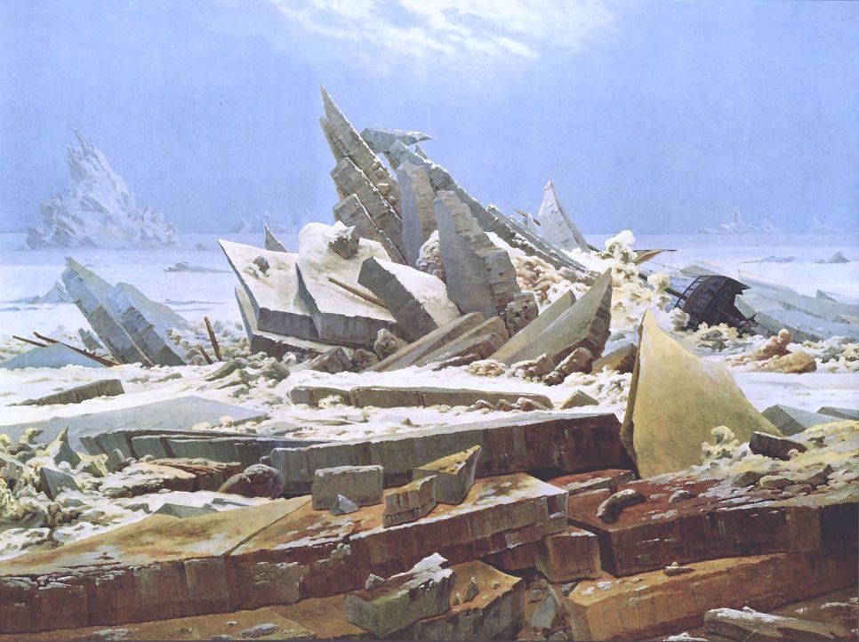 """Sea of Ice by Caspar David Friedrich, via commons.wikimedia.org"