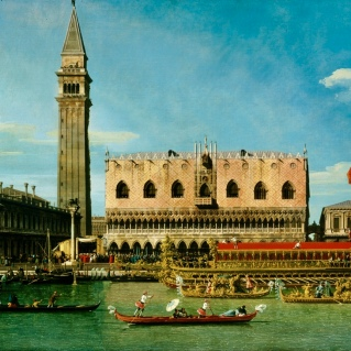 """""""The Bucintoro at the Molo on Ascension Day."""" / Canaletto 1697-1768."""