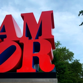 "Robert Indiana's ""Love."" © David-Kevin Bryant"